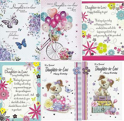 Daughter In Law Birthday Cards Choice Of Designs