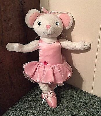 "Free Shipping~2006 Sababa Angelina Ballerina Posable Plush~13"" H~Excellent Cond"