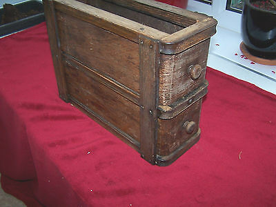 Vintage Singer Sewing Machine Accessory Drawers Shabby Chic Work Table Desk