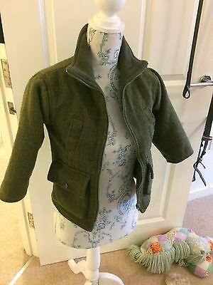 Tweed Coat Size M would fit 5/6 year old