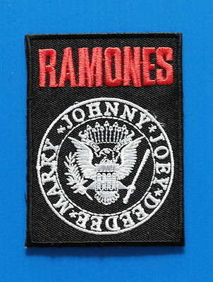 RAMONES Easy  Iron Embroidered Sewn On Iron On  Patch Free Ship