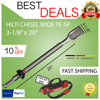 "HILTI CHISEL WIDE TE SP 3 1/8 x 20"", NEW, FOR TE 905, 1000,1500, FAST SHIP"