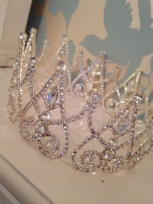 Silver Crown . Fairy Queen Crown. Stage Prop. Wedding Crown. Full Crown .Pageant