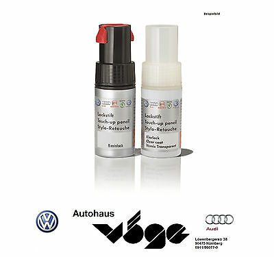 Audi Original Lackstift Set L D7R pepper grey metallic Inkl. Klarlack Neu!