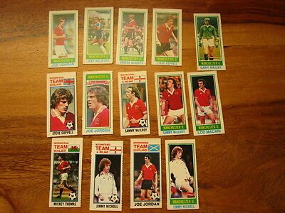 1980 Topps gum footballers (Pink back ) 14 Manchester United  players