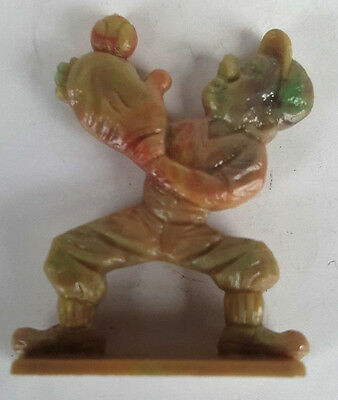 1953 Vintage Cracker Jack Prize Toy Baseball Player Catching Ball Stand Up