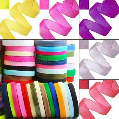 Crystal Woven Edge Organza Ribbon 25M reels  ***BUY 1 GET 1 FREE***