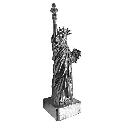 2 oz Statue of Liberty Cast Silver Bullion Exchanges .925 Silver Sterling (Antiq