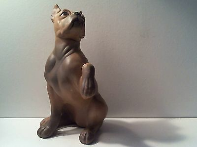 "Vintage Bulldog Ceramic Figurine 6"" High"