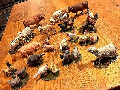 27 Antique Putz Match Stick Antique Germany German 1952 Nativity Farm Animals