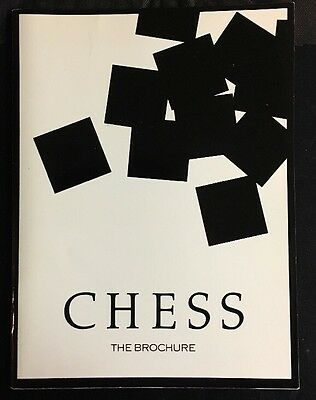 Chess The brochure Prince Edward Theatre 1986 Tim Rice