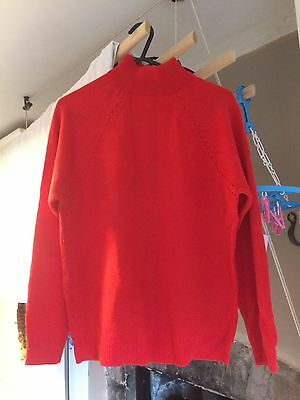 1970's Red Ian peters Courtelle Jumper