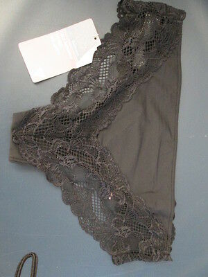pair black lace bandeau Brazilian knickers size 10 from Marks and Spencer