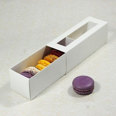 Macaron (Macaroon) Cookie Mini Cupcake box/ Case with Clear Window