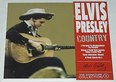 """Elvis Presley The Signature Collection Part 9 COUNTRY  7"""" CLRD Vinyl LTD 500 WW"""