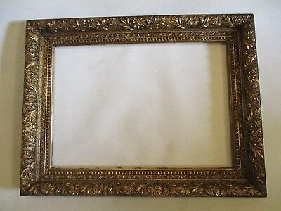 BEAUTIFUL ANTIQUE 19th CENTURY GOLD GILT VICTORIAN PICTURE PAINTING WOOD FRAME