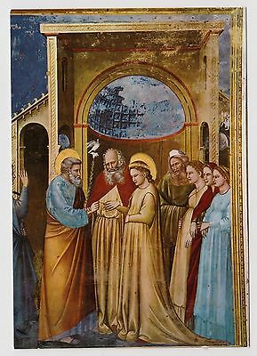 "POSTCARD - Giotto old master painting, religious ""The Wedding of Mary"" & Joseph"