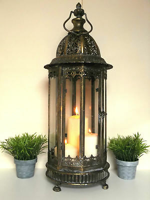 Large Vintage Style 60cm Moroccan Lantern Candle Holder Moorish Home or Garden