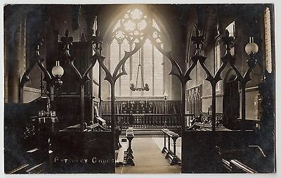 POSTCARD - Pytchley Church (interior) Northamptonshire, real photo, posted 1915