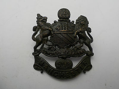 WW1 Officers bronze 5th Manchesters cap badge