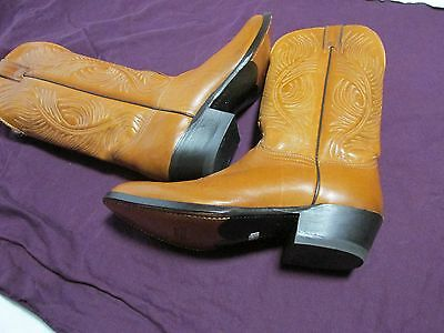 New ABILENE Western BOOTS size 8 1/2 D  Tan Leather  USA