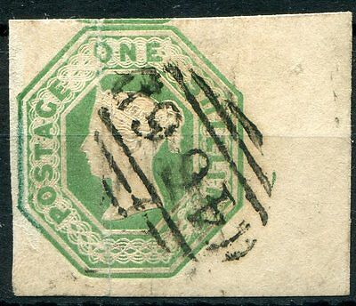 GB QV 1847-54 SG 55 1s green good margins example, very attractive item