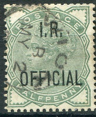 GB QV Officials 1882-1901 SG O2 1/2d pale green sound to good used
