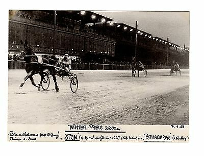 Original Press Photo Harness Trotting Racing Iton Andreas Von Beess 7.1.62 (2)