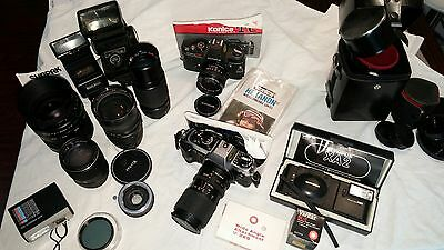 AS-IS Vintage camera lens flash LOT for parts or repair
