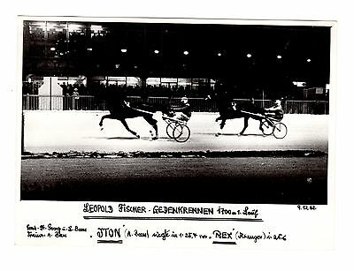 Original Press Photo Harness Trotting Racing Iton Andreas Von Beess 9.12.62 (1)
