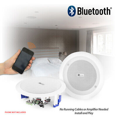 Flush Ceiling Speakers 60W Wireless Bluetooth Audio Streaming Home Audio Bedroom