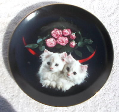 """Collector Plate  """"""""PEEKABOO"""" Kittens, cats by Kayomi Danbury Mint Collector"""