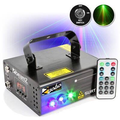 BeamZ Surtur II Red Green Gobo DMX DJ Laser Blue LED w/ IR Remote Control 305mW