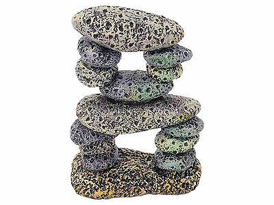 Rocky Pebble Formation Aquarium Goldfish Bowl Ornament Fish Tank Decoration