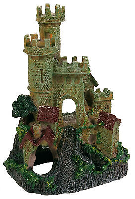 Castle on Rock Decoration Fish Cave Ornament for Aquarium Fish Tank