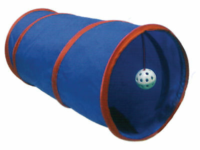 Pop-up Cat Tunnel with Toy Ball Cat Kitten Play Toy Assorted Colours 55cm