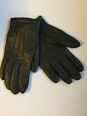 mens leather gloves with wool lining L