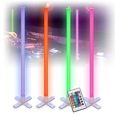 Mood Lighting Colour Changing LED Tube Lights DJ Disco Party Remote 1M (x4)