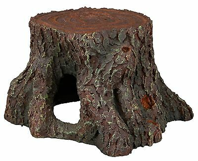 Tree Stump Fish Cave Aquarium Ornament Reptile Terrarium Wood Decoration