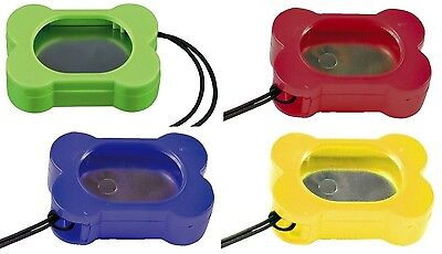 Dog Clicker Adjustable Tone Training Clicker Bone Shaped Assorted Colours