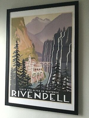 rivendell art deco print A2 - Lord of the rings