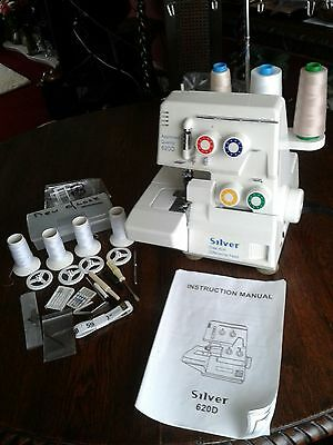 Silver Viscount Overlocking 620D 4 Thread 2 Needle Sewing Machine
