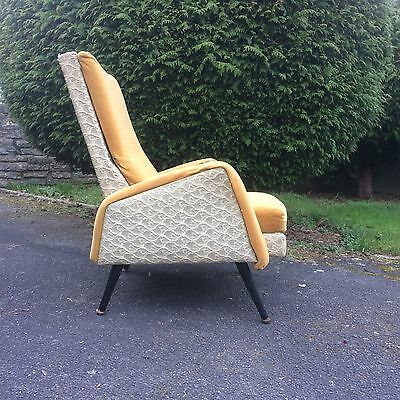 Pair Lounge Cocktail Armchairs Vintage Mid Century 1950s French Italian Metal