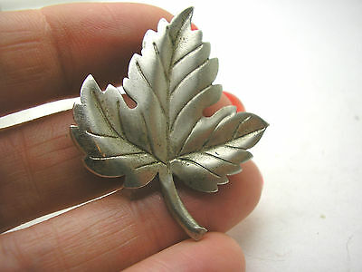 Vintage 1940s Authentic Tiffany & Co Sterling Silver Leaf Pin