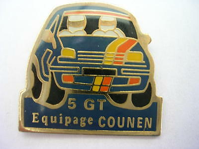 Pin's  Voiture Renault 5 Gt Rallye  / Equipage Counen