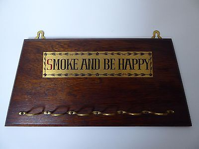 """Vintage Pipe Rack/Stand """"Smoke & Be Happy"""""""