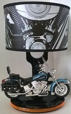 Harley Davidson Heritage Softtail Lamp w/ Nightlight and Harley bike Sounds
