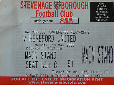 Stevenage Borough v Hereford United Conference play-off 2004/5