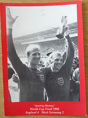 Sporting History World Cup Final 1966 postcard
