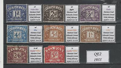 Gb Qeii Good To Fine 1955 Postage Dues